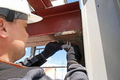 Визуально-измерительный (ВИК) и ультразвуковой контроль (УЗК) сварных соединений строительных конструкций